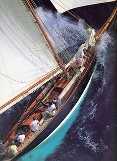 """yachtmasters: """" Salt Water 😆 PEN DUICK, 1898 📷 Gilles Martin-Raget by straorza """" Whitsunday Tours /// Fraser Island Day Tour Classic Sailing, Classic Yachts, Old Boats, Small Boats, Boating Pictures, Yacht Boat, Sail Away, Set Sail, Wooden Boats"""