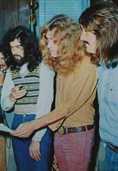 Jimmy Page, Robert Plant and John Paul Jones of Led Zeppelin - Japan 1971