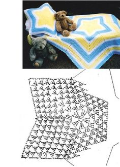 crochet star  blanket and pillow - I can see this in pastel cotton for the summer nights...
