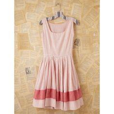 Free People Vintage Pink Striped Mini Dress