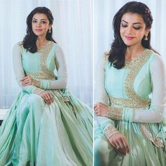 Kajal Aggarwal in our latest collection Mughal India for her movie promotions.  Styled By : Neeraja Kona @neeraja.kona