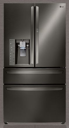 Look at this beauty! LG Black Stainless Steel Fridge. I want it. I need it. I love it.  #LGLimitlessDesign #Contest