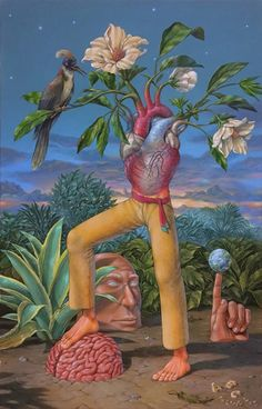 Wise Man Acrylic painting on linen Art Bizarre, Weird Art, Inspiration Art, Art Inspo, Art With Meaning, Paintings With Meaning, Art Visionnaire, Psychadelic Art, Psy Art