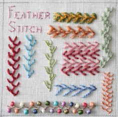 A large collection of embroidery stitches.  Part 11