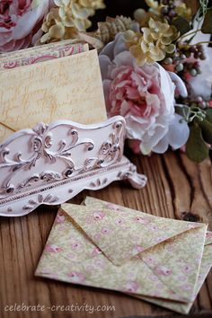 Turn fabric scraps into pretty fabric envelopes. Fabric Envelope, Diy Envelope, Decoupage, Shabby, The Best Is Yet To Come, Vintage Lettering, Fabric Scraps, Vintage Postcards, Easy Crafts