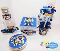 Kit Festa - Transformers Rescue Bots    Inlcuso:  * 10 tubetes  * 10 latinhas  * 10 caixinhas  * 10 garrafinhas    Obs: Vendemos todos os produtos separadamente e fazemos kits com maior quantidade (20,30...)    Ao confirmar a compra, envie a idade do aniversariante para que o tag seja personaliza...