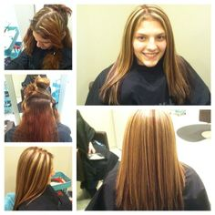 Before & After Highlights by Ashley Highlights, Dreadlocks, Hair Styles, Beauty, Beleza, Dreads, Hairdos, Highlight, Hairstyles