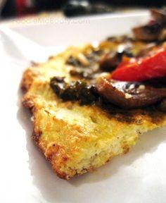 Cauliflower Crust Pizza {Vegan and Paleo Friendly} (Vegan Cauliflower Pizza) Paleo Vegan, Vegan Foods, Vegan Recipes, Cooking Recipes, Fun Recipes, Vegan Life, Cooking Time, Recipe Ideas, Dinner Recipes