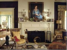 Grey Gardens News: Breakfast with Kalina: The Living Room of Grey Gardens Edie Bouvier Beale, Edie Beale, Edith Bouvier, Grey Gardens House, Gray Gardens, Traditional Fireplace, Fireplace Mantels, Fireplaces, Sims House