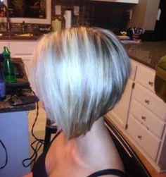blond angled bob