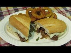 How to make a Cheesesteak Sandwich  - Cheese Steak Recipe  By TheWolfePit