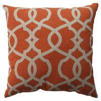 Diana Pillow in Tangerine