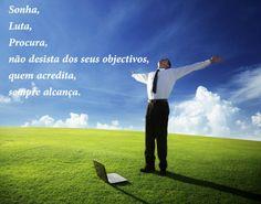 Sonha para alcançar os teus objectivos http://lazy.rochamedina.com
