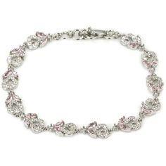 Hi End Bright Pink Kunzite & AAA Cz Sterling Silver Bracelet Weimaraner Rescue #Unbranded #Tennis