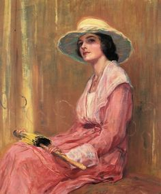 ▴ Artistic Accessories ▴ clothes, jewelry, hats in art - Guy Rose | The Model, 1919