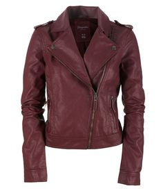 Faux Leather Jacket from Aeropostale