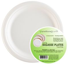 """Transitions2earth™ Biodegradable/ Compostable 9"""" Bagasse Plates"""