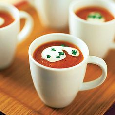 Roasted Red Pepper-Tomato Soup < Great Recipes for Fresh Tomatoes - Sunset.com