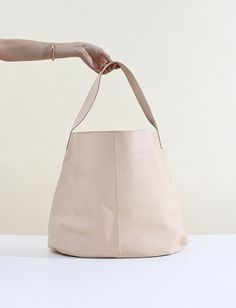 The perfect natural leather tote. By Arts and Science.
