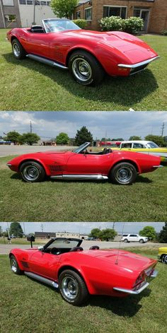 1970 Chevrolet Corvette Convertible – Red/Black – 350 CID – 4 Speed – Restored Chevrolet Corvette, Little Red Corvette, Corvette Convertible, Classic White, Red Black, Cars For Sale, Cutaway, Cars For Sell