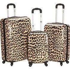 Walmart: Rockland Luggage Leopard 3 Piece Hardside Spinner Set