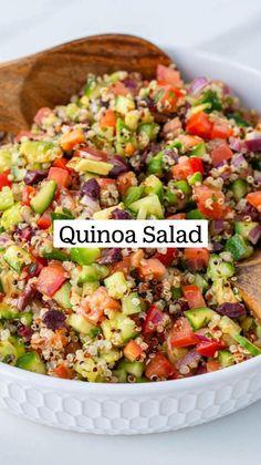 Healthy Eating Recipes, Veggie Recipes, Vegetarian Recipes, Dinner Recipes, Cooking Recipes, Health Dinner, Salad Dressing Recipes, Quinoa Salad, Meals