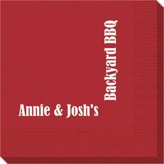 Personalized Corner Text Napkins