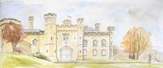 Chiddingstone Castle watercolour commission