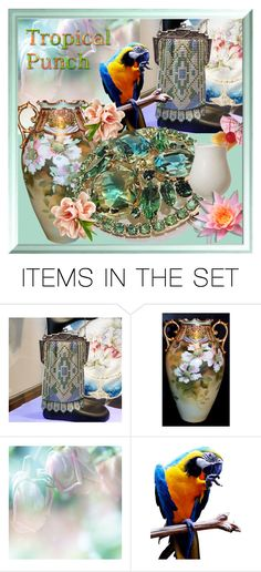 """""""Tropical Punch"""" by pattysporcelainetc ❤ liked on Polyvore featuring art and vintage"""