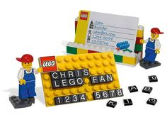 Custom Business Cards & Holder All In LEGO