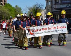 8b1cf08f60dc Firemen Walking a Mile - Real Men Wear Heels -- Hundreds of men walked for