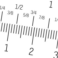 Inch fractions on a tape measure are distinguished by the