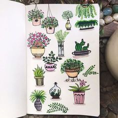 More doodle inspiration! Create cute plant doodles in your bullet journal or planner. Fun, easy to make doodles anyone can draw! Doodle Drawings, Doodle Art, Cute Drawings, Plant Texture, Leaf Texture, Texture Art, Plant Doodles, Hipster Vintage, Style Hipster