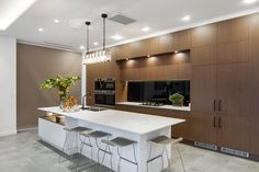 The Block Kitchen reveals last night were awesome. There were some impressive kitchens and butler's pantries. The Block Kitchen, New Kitchen, Kitchen Ideas, Kitchen Inspiration, Kitchen Designs, The Block 2016, The Block Australia, Brooklyn Kitchen, Duplex Design