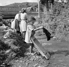 Zagreb - 1950.- Sestine - Washer Girl : News Photo