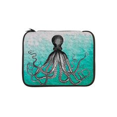 "Ombre vintage nautical octopus w 13"" Laptop Sleeve by listing-store-65171409"