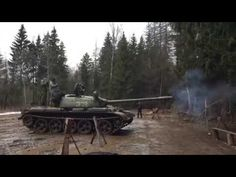 TANK T-55 Ride & Shoot Moscow Russia 2015 GoPro - YouTube