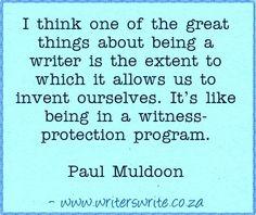 Quotable - Paul Muldoon - Writers Write Creative Blog