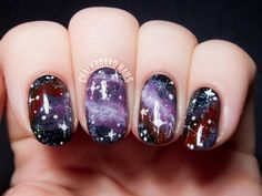 Purple Galaxy Nails, Inspired by the Pelican Nebula (via Bloglovin.com )
