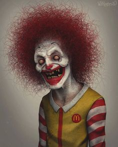 Ronald McDonald #ronald #ronaldmcdonald #mcdonalds #maccas #bigmac #fries #fastfood #clown #scary #creepy #horror #zbrush #3d #happymeal