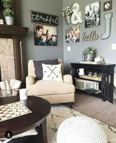 Home Remodeling Living Room 51 Cozy Farmhouse Living Room Decor For Your Family's Warmth Cozy Living Rooms, Home Living Room, Living Room Designs, Decorating A Large Wall In Living Room, Living Area, Living Spaces, Home Renovation, Home Remodeling, Room Decor For Teen Girls