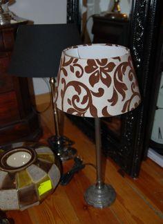 Lampa - abażur z motywem roślinnym