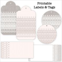 Free Lace-patterned Labels + Tags-at end of the  post, click on Download Free-lace-labels-tags for auto download pdf and save as!