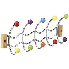 multi colour coat hooks from John Lewis £16
