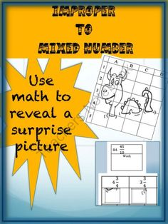 Improper to Mixed Number Puzzle Activity Worksheet from CGR educational Consulting on TeachersNotebook.com -  (2 pages)  - Your students will enjoy changing improper fractions to mixed numbers so they can reveal a hidden picture. Answer key is included
