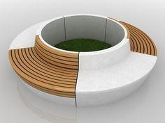 round benches around the vigas?