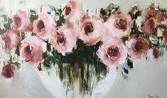 Pink roses 90x152cm Nicole Pletts