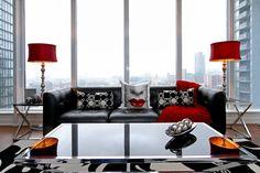Telegram Mews Condo - contemporary - living room - toronto - RT Designs (Roula Thalassinos Designs Inc.)
