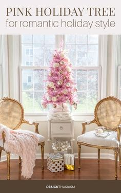 If you enjoy decorating with romantic French Country style, try adding a little pink Christmas tree to your holiday decor.