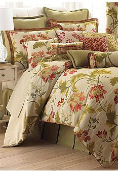 Enhance your master or guest bedroom with this warm, inviting bedding set. King Comforter Sets, Bedding Sets, Queen Bedding, Floral Comforter, Euro Pillow Shams, Rose Trees, Queen Beds, Bedding Collections, Bed Spreads
